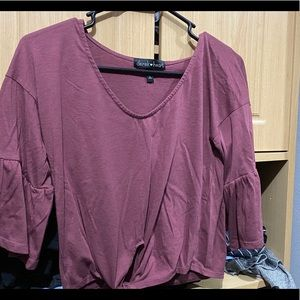 Cute cropped bell sleeve T shirt